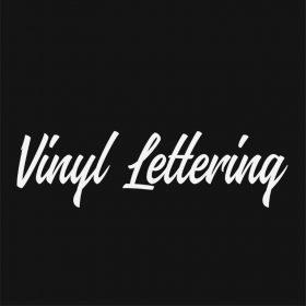 VINYL LETTERING 50-01 - Custom Car Wall Window Stickers
