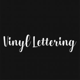 VINYL LETTERING 52-01 - Custom Car Wall Window Stickers
