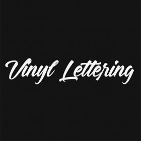 VINYL LETTERING 55-01 - Custom Car Wall Window Stickers