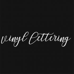 VINYL LETTERING 60-01 - Custom Car Wall Window Stickers