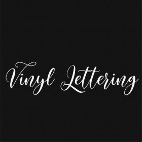 VINYL LETTERING 75-01 - Custom Car Wall Window Stickers