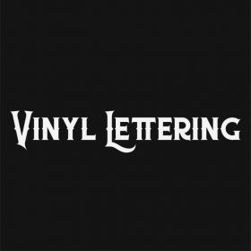 VINYL LETTERING 76-01 - Custom Car Wall Window Stickers