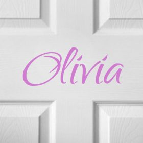 CHILDRENS DOOR NAME 10a-01 Sticker