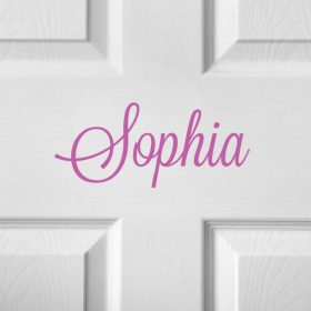 CHILDRENS DOOR NAME 11a-01 Sticker