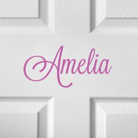 CHILDRENS DOOR NAME 11b-01 Sticker
