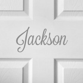 CHILDRENS DOOR NAME 11c-01 Sticker