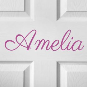 CHILDRENS DOOR NAME 12b-01 Sticker