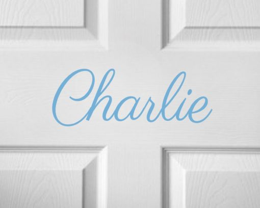 CHILDRENS DOOR NAME 12c-01 Sticker
