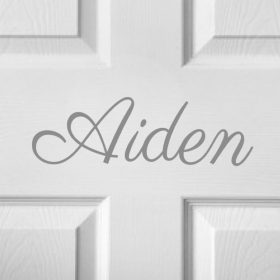 CHILDRENS DOOR NAME 12d-01 Sticker