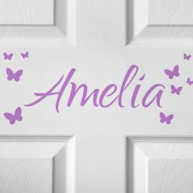 CHILDRENS DOOR NAME 3d-01 Sticker