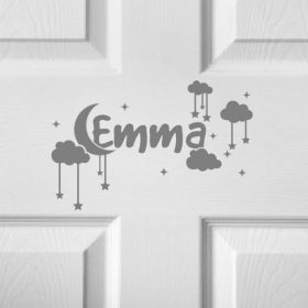 CHILDRENS DOOR NAME 4a-01 Sticker