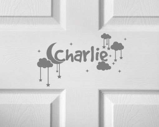 CHILDRENS DOOR NAME 4b-01 Sticker