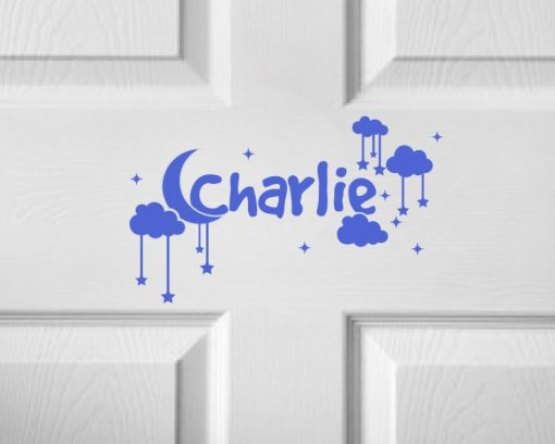 CHILDRENS DOOR NAME 4c-01 Sticker