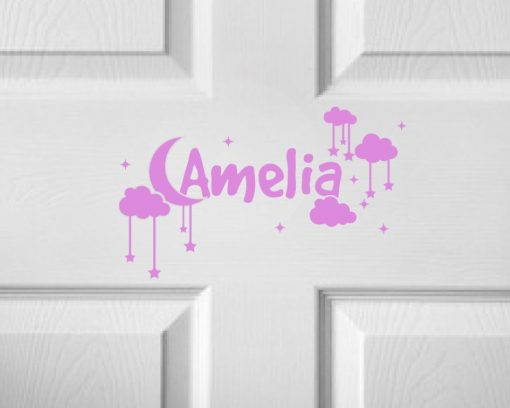 CHILDRENS DOOR NAME 4d-01 Sticker