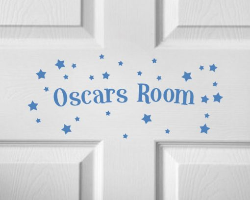 CHILDRENS DOOR NAME 5a-01 Sticker