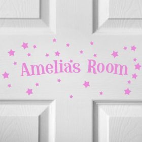 CHILDRENS DOOR NAME 5b-01 Sticker
