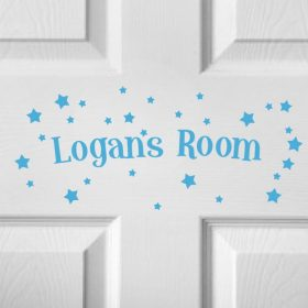 CHILDRENS DOOR NAME 5c-01 Sticker