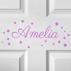 CHILDRENS DOOR NAME 6b-01 Sticker