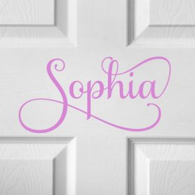 CHILDRENS DOOR NAME 8a-01 Sticker