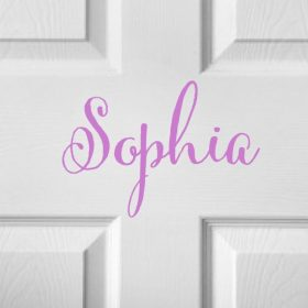 CHILDRENS DOOR NAME 9b-01 Sticker