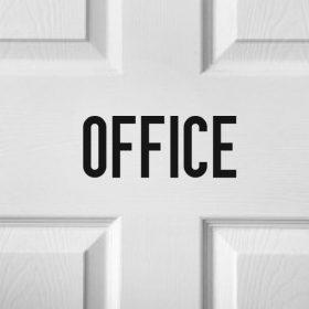Business Door Name Sticker