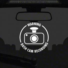 Dash Cam Sticker 1a-01 Decal