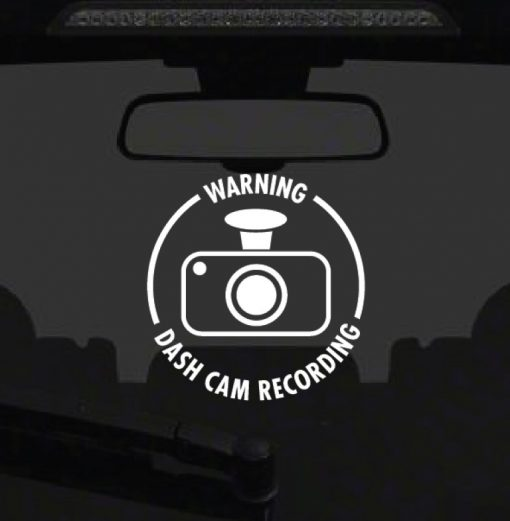 Dash Cam Sticker 1a-01 Decal