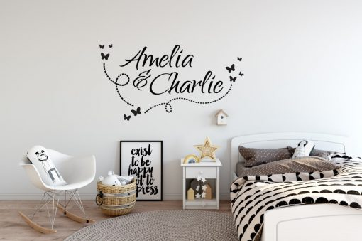 Two Name Wall Sticker 10a Decal