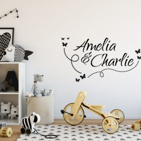 Two Name Wall Sticker 10b Decal