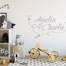 Two Name Wall Sticker 10c Decal