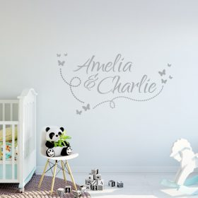 Two Name Wall Sticker 10d Decal