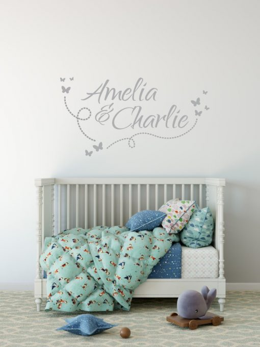Two Name Wall Sticker 10e Decal