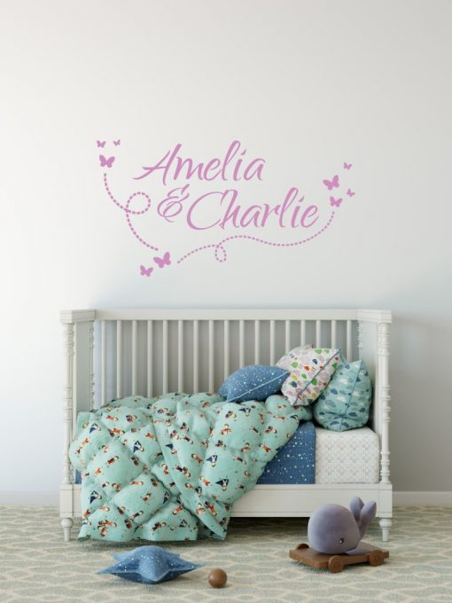 Two Name Wall Sticker 10f Decal