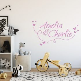 Two Name Wall Sticker 10g Decal