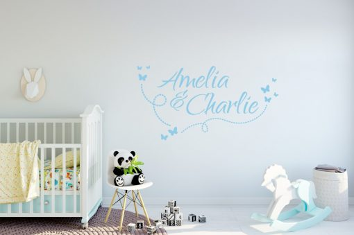 Two Name Wall Sticker 10h Decal