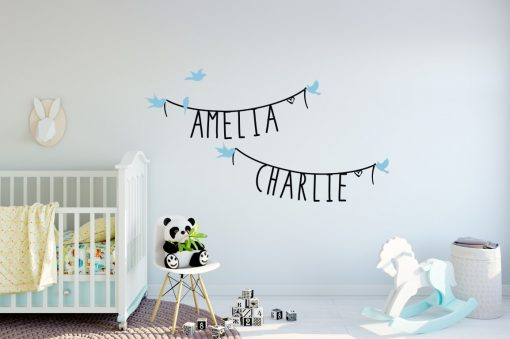 Two Name Wall Sticker 11 Decal