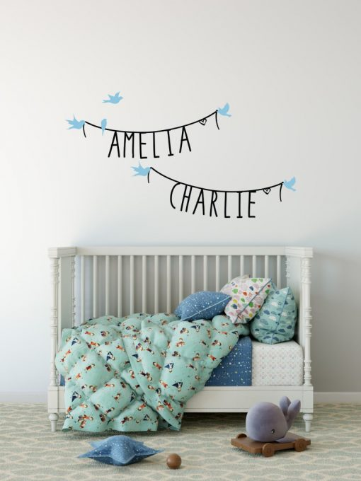 Two Name Wall Sticker 11b Decal