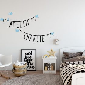 Two Name Wall Sticker 11c Decal