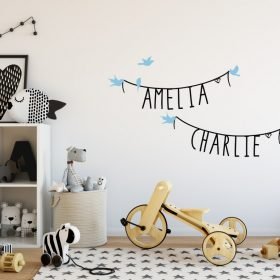 Two Name Wall Sticker 11d Decal