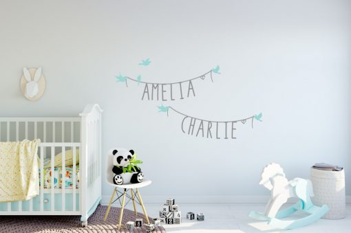 Two Name Wall Sticker 11e Decal