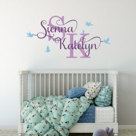 Two Name Wall Sticker 12a Decal