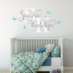 Two Name Wall Sticker 12b Decal