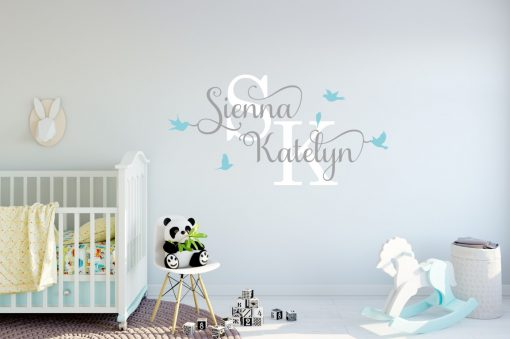 Two Name Wall Sticker 12c Decal