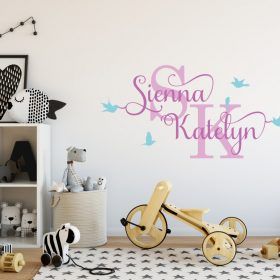 Two Name Wall Sticker 12f Decal