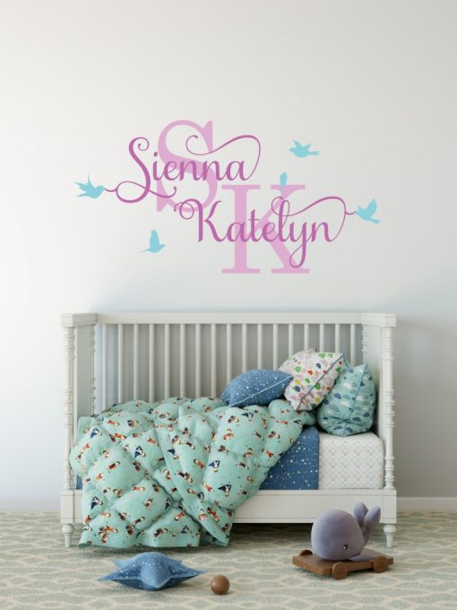 Two Name Wall Sticker 12g Decal