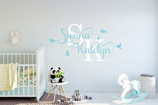 Two Name Wall Sticker 12j Decal