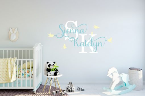Two Name Wall Sticker 12k Decal