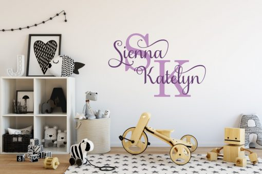 Two Name Wall Sticker 13a Decal