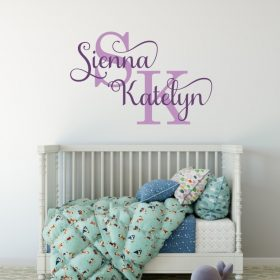 Two Name Wall Sticker 13b Decal