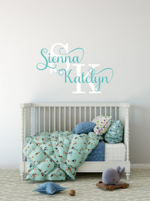 Two Name Wall Sticker 13c Decal